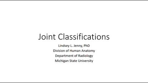 Thumbnail for entry Joint Classifications Fall 2020