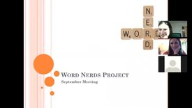 Thumbnail for entry Word Nerds September Meeting