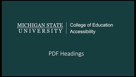 Thumbnail for entry PDF Headings Tutorial