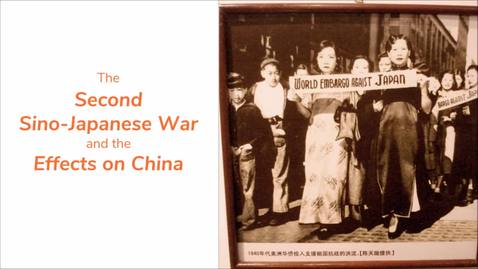 Thumbnail for entry ISS330B - Section 003 - The Second Sino-Japanese War