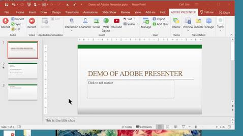 Thumbnail for entry Demonstration of Creating and Editing a Presentation