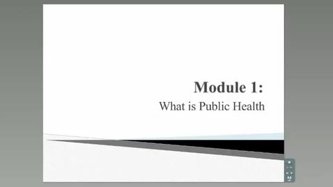 Thumbnail for entry What is Public Health