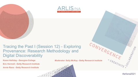 Thumbnail for entry Exploring Provenance: Research Methodology and Digital Discoverability
