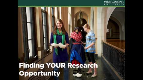 Thumbnail for entry Finding Your Research Opportunity