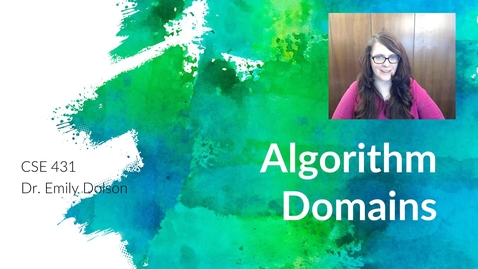 Thumbnail for entry Algorithm Domains