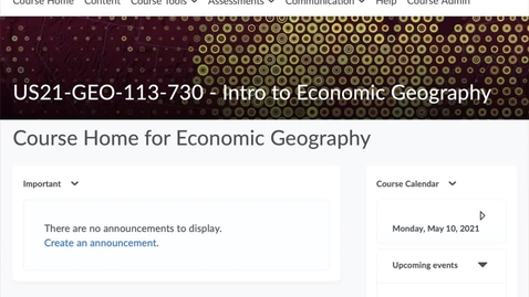 Thumbnail for entry GEO113: Accessing your assignments