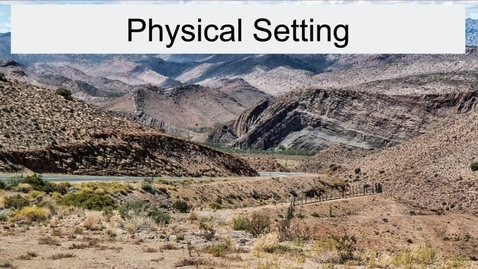 Thumbnail for entry GEO330: Great Plains & Rocky Mountain Region: Physical Setting