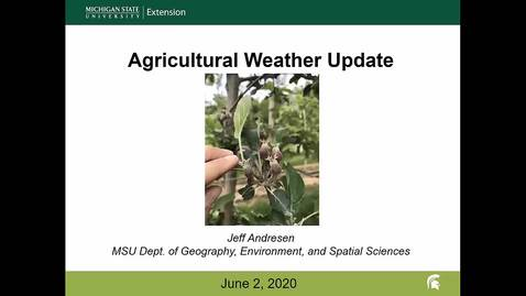 Thumbnail for entry Agricultural weather forecast for June 2, 2020