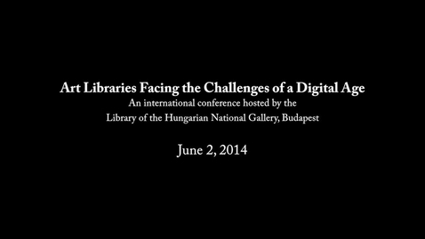 Thumbnail for entry On Digitally Archiving and Documenting Contemporary Art in an Online Database