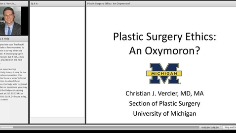 Thumbnail for entry Plastic Surgery Ethics: An Oxymoron?