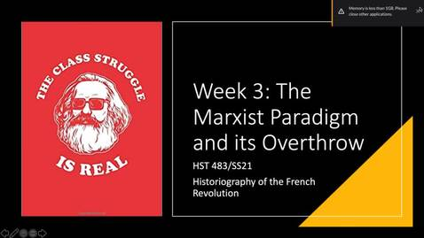 Thumbnail for entry Lecture 3 - Marxist Paradigm and its Overthrow