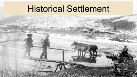 Thumbnail for entry GEO330: Inland South: Historical Settlement