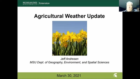 Thumbnail for entry Agricultural weather forecast for March 30, 2021