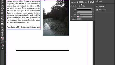 Thumbnail for entry EBM InDesign Basics pt6 stroke