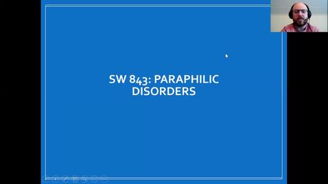 Thumbnail for entry SW 843 - Paraphilias
