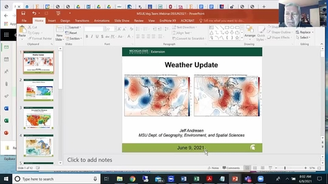 Thumbnail for entry Agricultural weather forecast for June 9, 2021