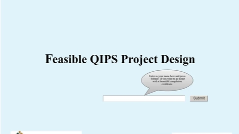 Thumbnail for entry Feasible QIPS Project Design