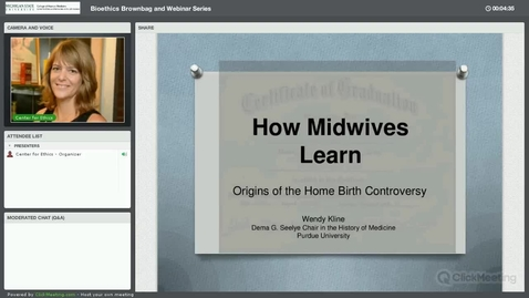Thumbnail for entry How Midwives Learn: Origins of the Home Birth Controversy