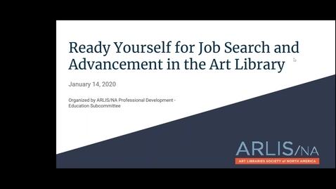 Thumbnail for entry Ready Yourself for Job Search and Advancement in the Art Library