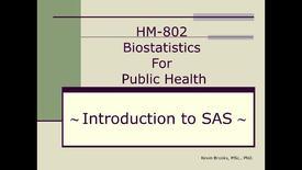 Thumbnail for entry HM802 sec730 Module 4_IntroductionSAS