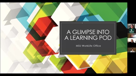 """Thumbnail for entry A Glimpse Into a """"Learning Pod"""""""