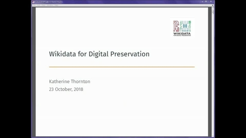 Thumbnail for entry Wikidata for Digital Preservation