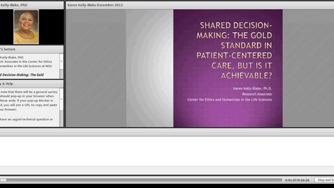 Thumbnail for entry Shared Decision-Making: The Gold Standard in Patient-Centered Care, But is it Achievable?
