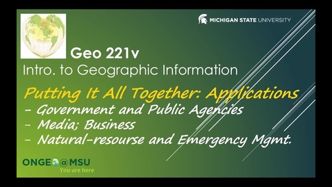 Thumbnail for entry GEO 221v: Putting It All Together
