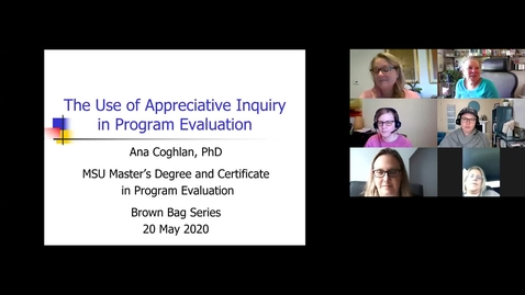 Thumbnail for entry The Use of Appreciative Inquiry in Program Evaluation