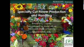 Thumbnail for entry Specialty cut flower production and handling