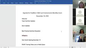 Thumbnail for entry Healthier Child Care Environments November 2018 Monthly Meeting