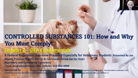 Thumbnail for entry VM 509 Controlled Substances Part 2