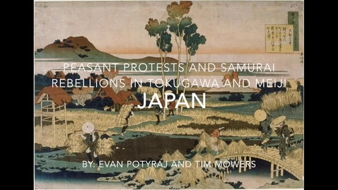 Thumbnail for entry Peasant protests and samurai rebellions in Tokugawa and Meiji Japan