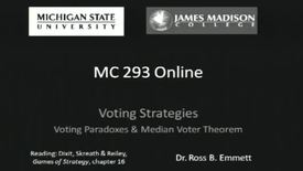 Thumbnail for entry Voting Strategies: Voting Paradoxes and the Median Voter The