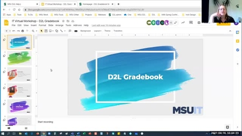 Thumbnail for entry IT Virtual Workshop - D2L Gradebook