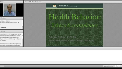 Thumbnail for entry Health Behavior: Ethics and Compliance