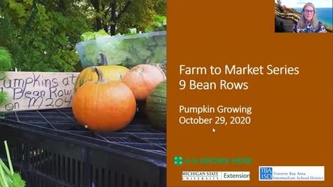Thumbnail for entry 9 Bean Rows Pumpkins Session 4 Farm to Market Webinar Series 10-29-20
