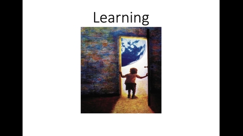Thumbnail for entry Introduction and Perspectives on Learning