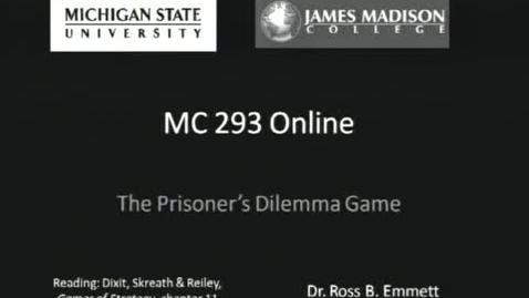 Thumbnail for entry Prisoners Dilemma Game