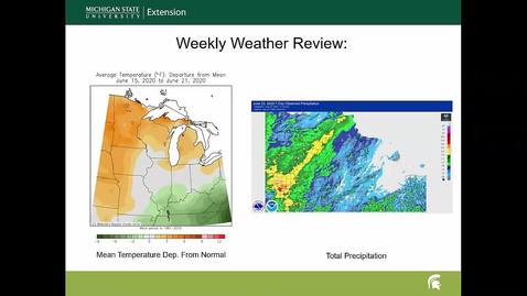Thumbnail for entry Agricultural weather forecast for June 23, 2020