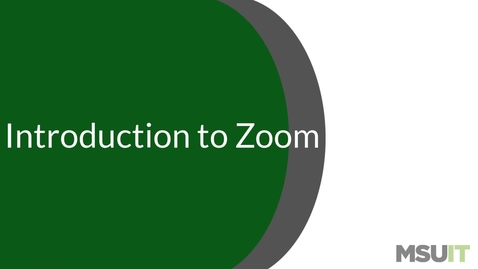 Thumbnail for entry Introduction to Zoom