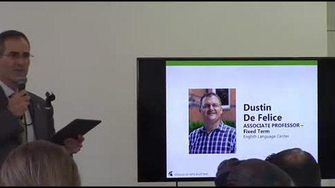 Thumbnail for entry Promotion to Associate Professor - Dustin De Felice