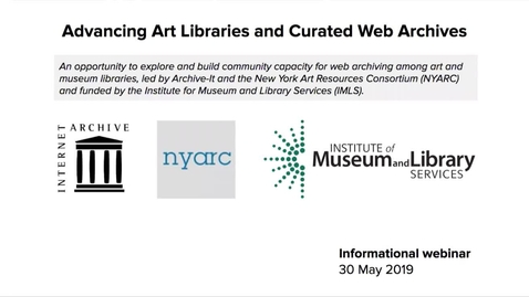 Thumbnail for entry Advancing Art Libraries and Curated Web Archives: Report