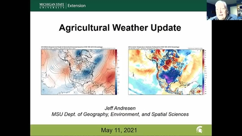 Thumbnail for entry Agricultural weather forecast for May 11, 2021