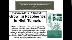 Thumbnail for entry Growing raspberries in high tunnels