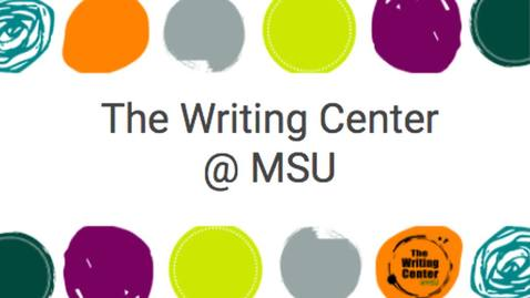 Thumbnail for entry 20FS_Introduction to Writing Center_Short Video