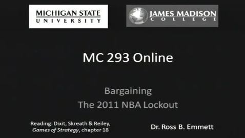 Thumbnail for entry Bargaining: Case Study of the 2011 NBA Lockout