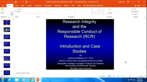 Thumbnail for entry OST598 Responsible Conduct of Research