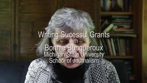 Thumbnail for entry Bonnie Bucqueroux on Writing Successful Grants