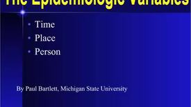 Thumbnail for entry HM803 The Epidemiologic Variables